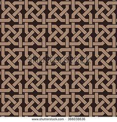 seamless pattern of knotting ornaments.Armenian fret texture - stock vector