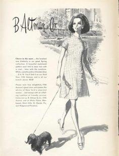 1968 B Altman Co Fifth Avenue Wool Knit Fashion Kimberly Dress Print Ad | eBay