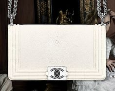 White Sting Ray Chanel BOY Bag. love