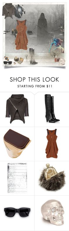 """There is a stranger in my house"" by lablanchenoire ❤ liked on Polyvore featuring Rick Owens, L'Autre Chose, Maison Margiela, Kate Spade, Acne Studios, Hublot, wallets, clutches, watches and gold"