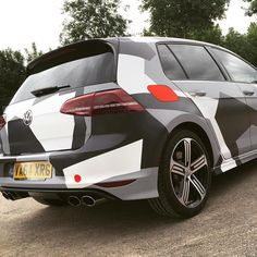 Golf R wrapped in printed sarin white 3M 1080 vehicle wrap. by wrapvehicles.co.uk #3mwrapsuk #wrapmycurves #wrap #wrappers #wrapping #camo #car #cars ...