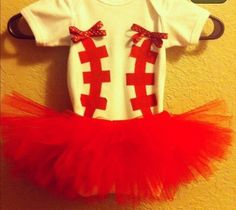Perfect little girl baseball outfit! @Jennifer Milsaps Frazee you have a girl you have to have this for me