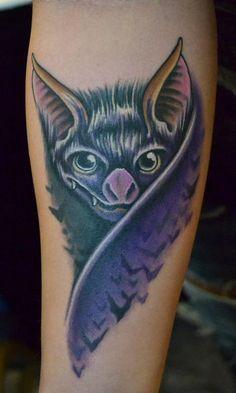 Tattoo Inspiration - Worlds Best Tattoos : Tattoos : New School : Bat . Vampire Tattoo, Cool Tats, Awesome Tattoos, Worlds Best Tattoos, I Tattoo, Bat Tattoos, Dieselpunk, Picture Tattoos, Tattoo Designs