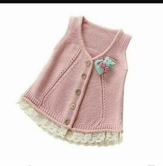 2017 Spring Fall Little Girls Cotton Vest Woollen Sweater Cardigan Baby Infant Sleeveless Knitwear Children Knitted Sweater Baby Knitting Patterns, Knitting Blogs, Knitting For Kids, Baby Patterns, Baby Cardigan, Baby Pullover, Sweater Cardigan, Crochet Baby, Knit Crochet