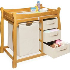<li>Improve your nursery with a new changing table and hamper unit</li><li>Changing table keeps everything tidy and concealed for a clean look in the nursery</li><li>Changing area of baby furniture has safety rails on all four sides</li>