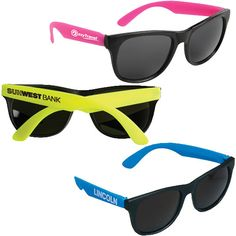 Neon Rubber Sunglasses for those outdoor weddings! #QLPContests