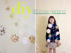 ~Ruffles And Stuff~: Simple Christmas Decor: DIY Gift Bow Garland!