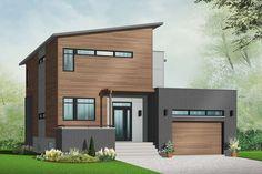 Contemporary House Plans, Modern House Plans, Modern House Design, House Floor Plans, Modern Floor Plans, Modern Contemporary, Drummond House Plans, Master Suite, Bauhaus