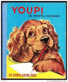 Cocker Spaniel Puppies, Little Golden Books, Bookstores, Album, Dog Portraits, Four Legged, Book Illustration, Romans, Childrens Books