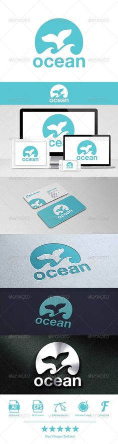 Ocean Logo — Vector EPS #company #blue • Available here → https://graphicriver.net/item/ocean-logo/8048363?ref=pxcr
