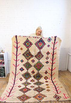 Crazy beautiful bohemian rug, from Baba Souk
