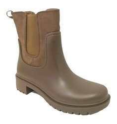 A-SJD Women's Rain Boots Rubber Short Garden Elastic Fashion Goring Band Snow Ankle Shoes, Black, Khaki, Brown *** You can get more details by clicking on the image.