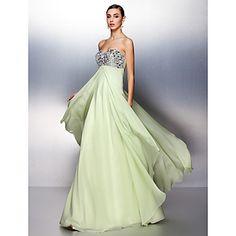 Prom/Formal Evening Dress A-line Sweetheart Floor-length Chiffon Dress – USD $ 149.99