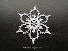 Crochet Snowflake Pattern, Crochet Stars, Christmas Crochet Patterns, Crochet Snowflakes, Christmas Snowflakes, Knit Crochet, Christmas Ornaments, Sampler Quilts, Crochet Winter
