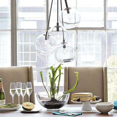 Industrial-Round-Ball-Chandelier-Wire-Clear-Glass-Lamp-Ceiling-Hanging-Lighting