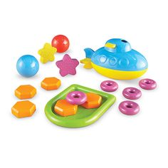 Learning Essentials™ STEM Sink or Float Activity Set Dive into early physics with this two-piece submarine and floating raft along with colorful weights, rings, balls and stars to bring investigations to life. Ten detailed Activity Cards with engaging, high-impact activities cover all aspects of STEM, plus key science concepts of buoyancy, density, and more!