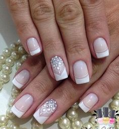 Franch manicure is always in trend. It is only on you to decide how youu will do it, will it be simple french manicure or a little bit enriched.