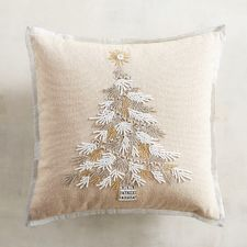 Our gorgeous Christmas tree pillow features stunning beadwork and a pristine beauty that promises heirloom status. Christmas Sewing, Christmas Embroidery, Christmas Cards To Make, Christmas Gifts For Her, Christmas Cushions, Christmas Pillow, Christmas Tree, Christmas Runner, Christmas Centerpieces