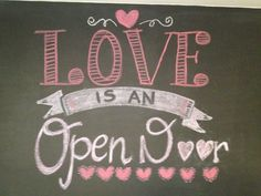 valentine quote on my chalkboard. My girls love Frozen!
