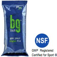 BG Bar ™  •Fortified with sprouted grains, greens, and Super Blue Green® Algae   •Contains a healthy balance of protein, fats, carbohydrates, fiber, and micronutrients from whole-food sources, with no chemical additives, dairy, or gluten   •Provides an ideal mixture of complex and simple carbohydrates for sustained energy   •Supplies plant-based enzymes that help with assimilation and digestion   http://healthyfutures.net/gary/products/products/bgbar.php#