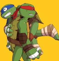 """""""No! I'm fine! It's just a scratch! Put me down!""""  """"You are not fine. Stop struggling, you're getting blood on my shell."""""""