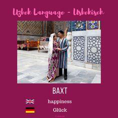 "Uzbek ""happiness""; Usbekisch ""Glück"" More information on instagram or on my blog www.sariq-qiz.com #uzbek #usbekisch #uzbeklanguage #usbekischesprache #languages #learnuzbek #lerneusbekisch Language, Group, Happy, Blog, Instagram, Languages, Ser Feliz, Blogging, Language Arts"