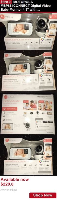 Baby Safety Monitors: Motorola Mbp854connect Digital Video Baby Monitor 4.3 With Wi-Fi Internet BUY IT NOW ONLY: $220.0