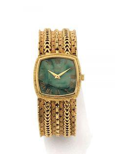 PIAGET N° 9231N36/149263, vers 1970 Montre bracelet de dame en or jaune 18K (750). Boîtier cou