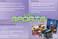 How does Kinect Sports support the curriculum?