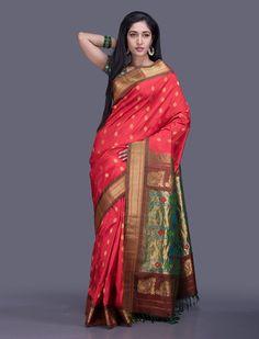 Mrunalini Paithani Silk Saree