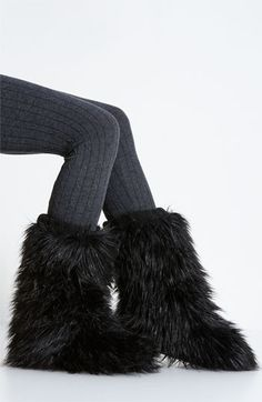 Slippers...the furrier the better (but NOT real fur...that's cruel!)