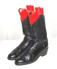 Chippewa Wellington Black Leather Men's Western Motorcycle  Boot USA Size 11.5 D #Chippewa #WesternMotorcycleBoot
