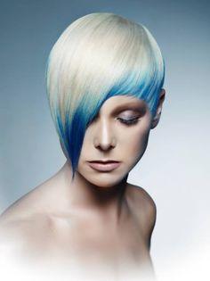 blue face framing