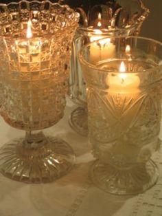 Vintage Hurricane Vases