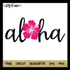 Very cute free svg is perfect for your next Hawaiian or tropical vacation! Make a DIY beach tote, swimsuit coverup or water bottle for the hot weather this summer. Compatible with Cricut, Silhouette and other cutting machines.