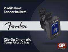 Pratik akort, Fender kalitesiyle buluştu. Fender FT-004 Clip-On Chromatic Tuner Akort Cihazı; http://www.gitarpazar.com/Fender-FT004-ClipOn-Chromatic-Tuner