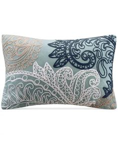 """INK+IVY - Kiran Embroidered 12"""" x 18"""" Decorative Pillow Throw Pillows Bed, Lumbar Pillow, Decorative Throw Pillows, Comfortable Living Room Chairs, Chain Stitch Embroidery, Pillows Online, Pillow Reviews, Bedding Collections, Mens Gift Sets"""
