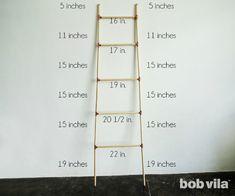DIY Blanket Ladder - Step 5