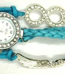 Sky Blue Colour Angle's Wing Bracelets Quartz Watch with Rhinestone Bracelets Type: Charm Bracelets Main Stone Color: White Bracelets Material: Imitation leather Alloy Style: Bohemian Charm Bracelets Type: Traditional Charm Metal Color: Silver Clasp Type: Lobster Metals Type: Alloy Gender: Women's Holiday: Valentine's Day Halloween Easter Chirstmas Thanksgiving Day Occasion: Party Chain Type: Rope chain Charms Bracelets Theme: Angel