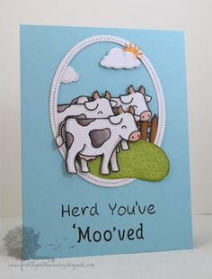 Lawn Fawn - Critters on the Farm, Claire's ABCs, Jessie's ABCs, Bright Side Paper; Jenny's Card is super cute & has a great sentiment too! (Top Mow-it-All)