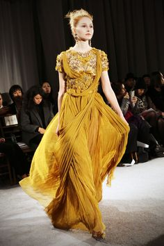 At Marchesa's most recent runway show, that starting point of inspiration was as incandescent as they come.
