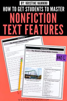 Freebies to Help Students Master Nonfiction Text Features Text Feature Anchor Chart, Nonfiction Text Features, 6th Grade Reading, Reading Passages, Reading Comprehension, Reading Intervention, Upper Elementary, Middle School, High School