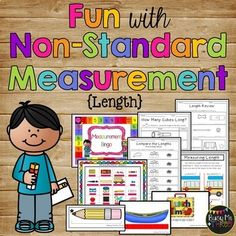 Nonstandard Measurement, Length - Cubes and Paper Clips - K, First Math Stations, Math Centers, Nonstandard Measurement, Levels Of Government, Interactive Journals, Gaming Station, Learning Games, Kindergarten Math, Cube