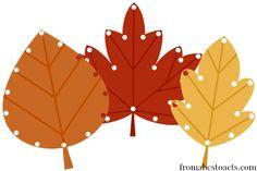 Autumn Leaf Lacing for Preschoolers