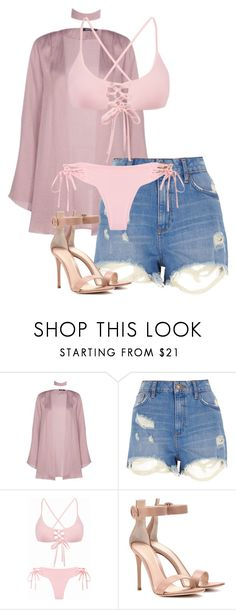 """""""This is a shout out to my ex"""" by emilia-love-life ❤ liked on Polyvore featuring Boohoo, River Island and Gianvito Rossi"""
