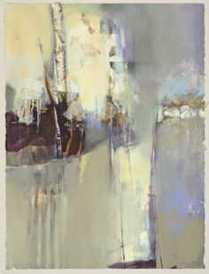 """Mixed Media Artists International: Contemporary Botanical Abstract Landscape Painting """"Breathing Heaven"""" by Intuitive Artist Joan Fullerton"""