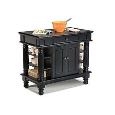 nice small kitchen island. Not in black and a slightly different style