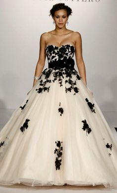Images Of Black White Wedding Dresses Yahoo Image Search Results