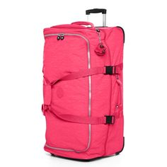 Teagan Large Wheeled Duffle in Vibrant Pink L x H x D Kipling Handbags, Kipling Bags, Michael Kors Outlet, Handbags Michael Kors, Pink Duffle Bag, Duffle Bags, Puppy Backpack, Large Messenger Bags, Animal Bag