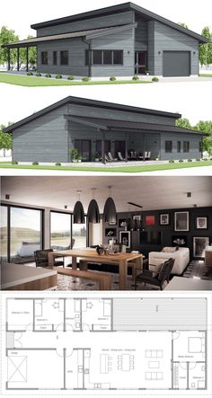 House Plan, Home Plans, Modern House with three bedrooms. House Plan, Home Plans, Modern House with three bedrooms. Metal Homes Floor Plans, Metal House Plans, Simple House Plans, Home Design Floor Plans, Barn House Plans, Metal Building Homes, New House Plans, Modern House Plans, House Floor Plans